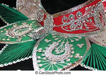 Mexican sombrero fiesta - sequin and decorative ornate...