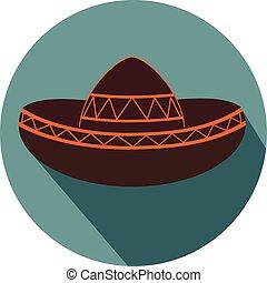 Mexican sombrero flat design icon vector eps 10