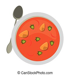 Mexican soup with popotes