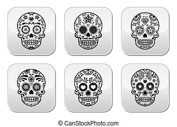 Mexican sugar skull, Dia de los Mue