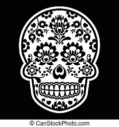 Mexican sugar skull - Polish folk