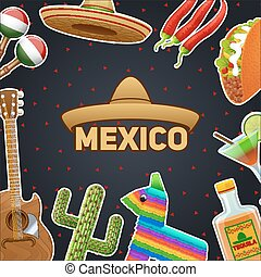 Mexican Symbols Illustration