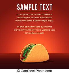 Mexican Taco Templat. Vector Image