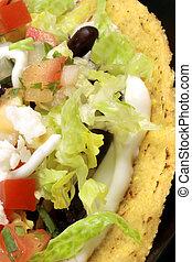 mexican tacos - Delicious mexican tostadas perfect appetizer...