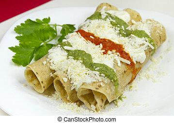 Mexican Tacos Dorados Dish