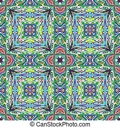 Modern Mexican fabric design in vivid and bright colors, seamless