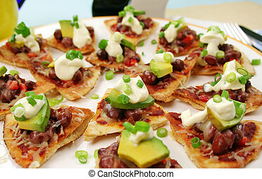 Mexican Triangles - Delicious mexican triangles with avocado...