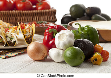 mexican vegetables with tacos