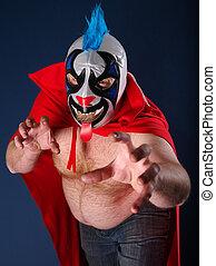 Mexican wrestling portrait