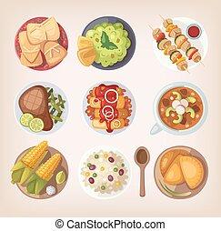 mexicano alimento, ícones