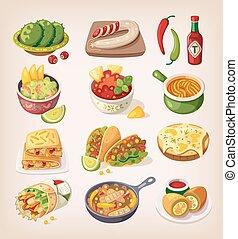 mexicano alimento, coloridos