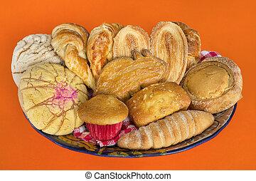 mexicano, cesta pão