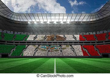 mexicano, compuesto, digital generado, bandera nacional, imagen