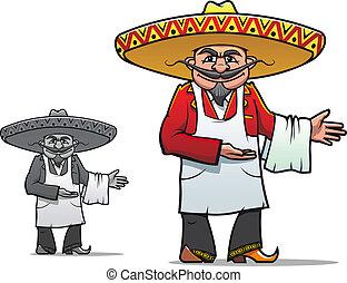 mexicano, cozinheiro