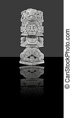 mexicano, estátua, (isolated)
