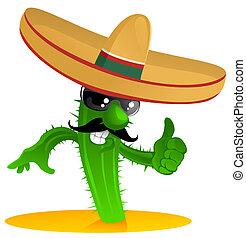 mexicano, fresco, cacto