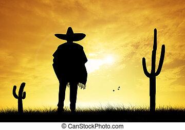 mexicano, hombre