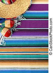mexicano, méxico, sombrero, mayo, de, cinco, fundo