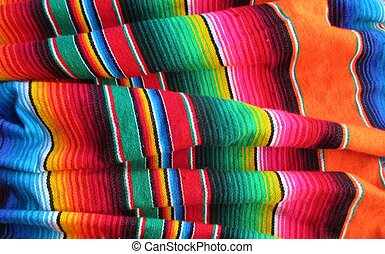 mexicano, mayo, de, fiesta, cinco, plano de fondo, serape,...