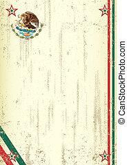mexicano, retro, plano de fondo