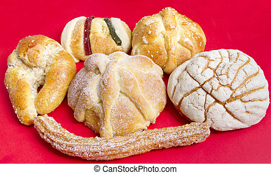 mexicano, sortido, pão doce