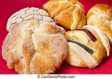 mexicano, tradicional, pão, baixo, vista