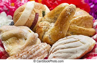 mexicano, tradicional, pão doce