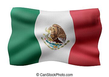 Mexico 3d flag