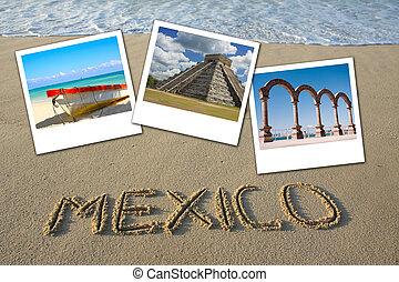 Mexico beach collage