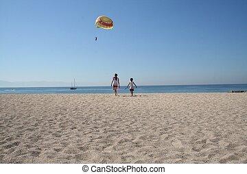 Mexico Beach Scene