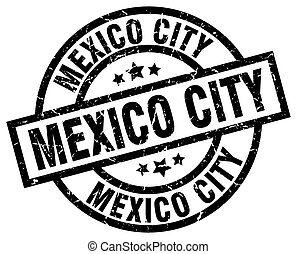 Mexico City black round grunge stamp