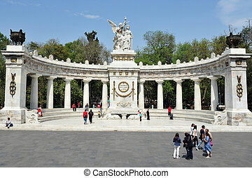 Mexico City Monument - MEXICO CITY, 28 FEBRUARY, 2010: The...
