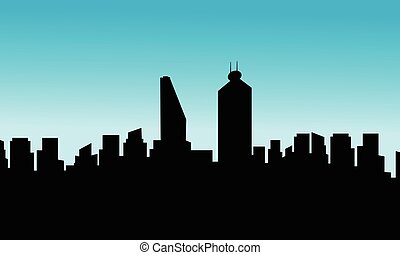 Mexico city skyline silhouette vector flat