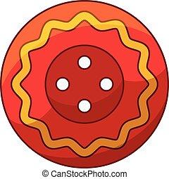Mexico cloth button icon, cartoon style