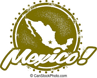 Mexico Country Stamp