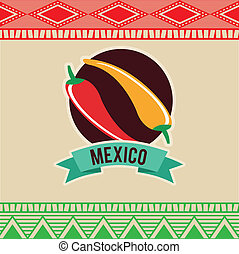 Mexico design over beige background, vector illustration