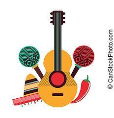 Mexico design over white background, vector illustration