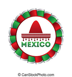 Mexico design over white background, vector illustration