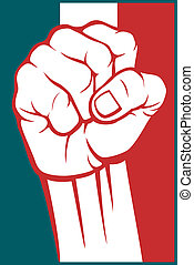 mexico fist (flag of mexico)