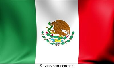 Mexico Flag. Background Seamless Looping Animation.