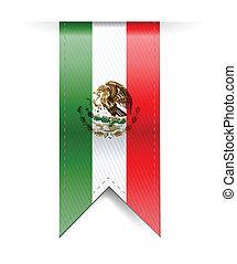 mexico flag banner illustration