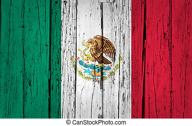 Mexico Flag Grunge Background