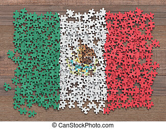 Mexico Flag Puzzle
