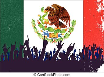 Mexico Flag with Audience