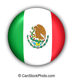 Mexico Flag - World Flag Button Series - North America -...