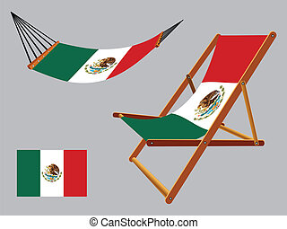 mexico hammock and deck chair set - united mexican states...