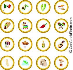 Mexico icon circle