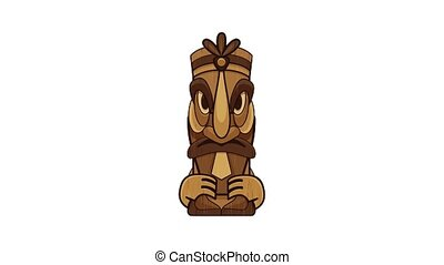 Mexico idol icon animation cartoon object on white background