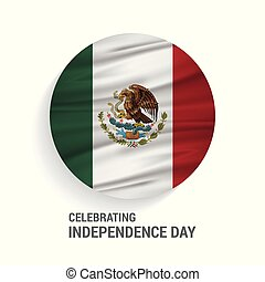 Mexico Independence Day Abstract Waving Flag