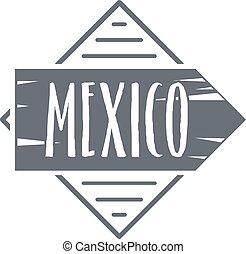 Mexico logo, vintage style